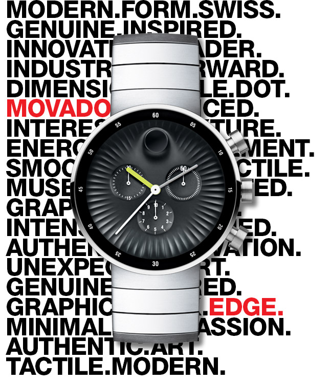 The new Movado Edge; Museum quality design