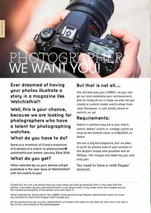 Photograph contest