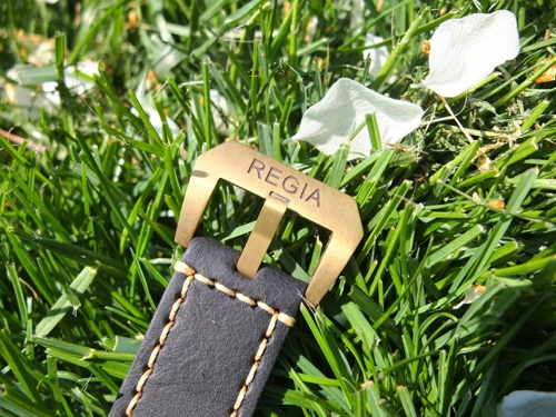 Regia brass buckle - Patina project