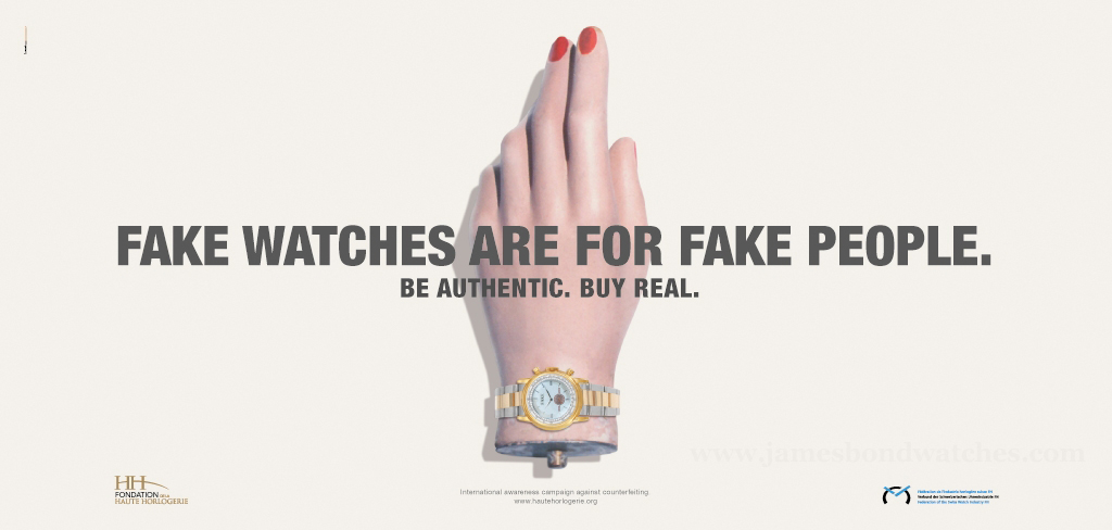 The Fondation de la Haute Horlogerie has been battling fake watches for years
