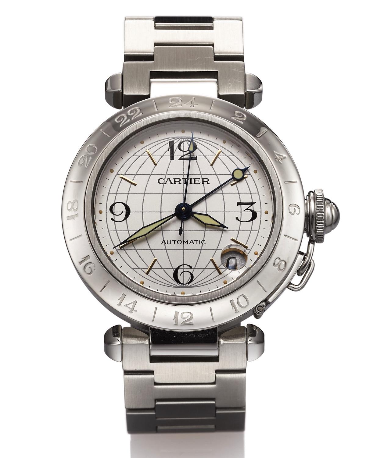 Affordable At Auction: Cartier Pasha C GMT