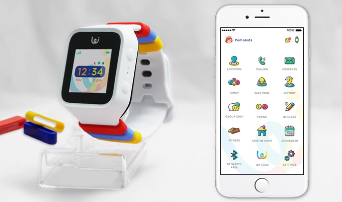 Pomo Waffle: A Smart Watch For Your Kids